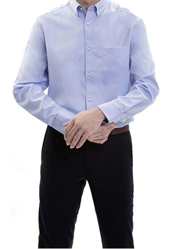 Goldlion blue Goldlion Nanotech Wrinkle Free Long-Sleeved Shirt 2D041AA0A4C471GS_1