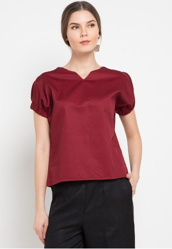 Noche red Sofia Blouse 8D8C8AAB8A5F11GS_1