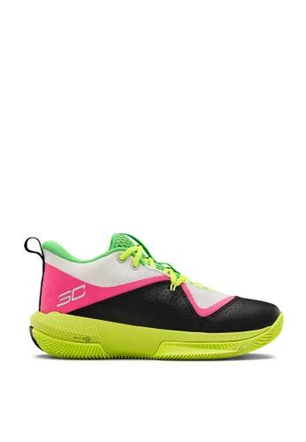 Under Armour 白色 and 黃色 Grade School UA SC 3ZER0 IV Basketball Shoes 17E6CKSD8589C3GS_1