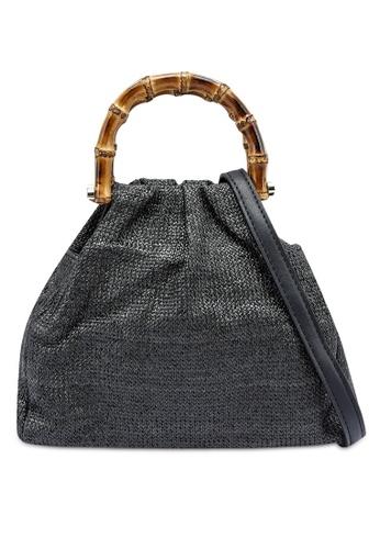 Red's Revenge black Tropics Straw Mini Handbag 219C0ACB22E34CGS_1