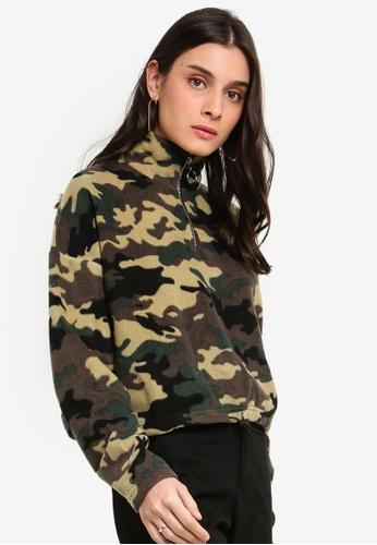 Factorie multi Crop Quarter Zip Polar Fleece Sweater 6E07FAAF54EFE1GS_1