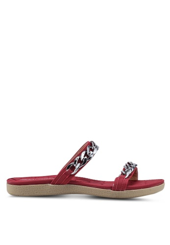Mimosa 紅色 Metal Hardware Strap Sandals CAEF2SHA1D0FD4GS_1