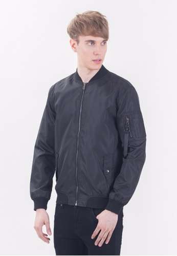 Drum Classic Bomber Jacket-BLK DR425AA33TMOMY_1