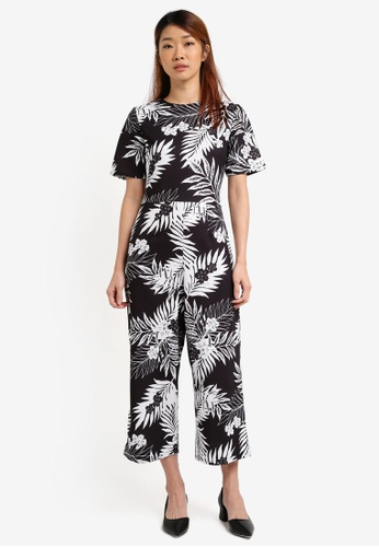 Dorothy Perkins black Culotte Jumpsuit DO816AA0SRD7MY_1