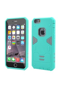 Armor Hybrid Anti Shock Heavy Duty Case for Apple iPhone 6S / 6G 4.7 -Mintgreen/Grey