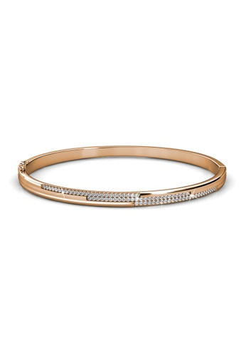 Her Jewellery Swarovski® Crystals -Lecia Bangle (Rose Gold) (18K Rose Gold Plated) Her Jewellery HE581AC0RVFXMY_1