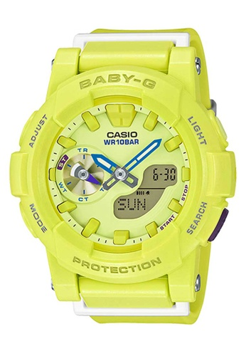 CASIO yellow Casio Baby-G White and Yellow Resin Watch C3220ACC26235AGS_1