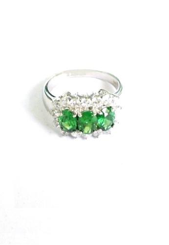 ADORA green Silver Chrysolite Ring AD365AC2UKJ6HK_1