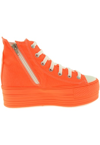 Maxstar orange Maxstar Women's C50 7 Holes Zipper Platform Canvas High Top  Sneakers US Women Size MA164SH72PVJSG_1