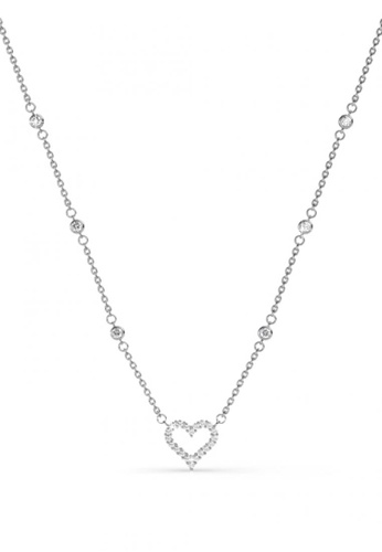 Her Jewellery silver Kindle Love Pendant -  Made with premium grade crystals from Austria HE210AC0FSQXSG_1