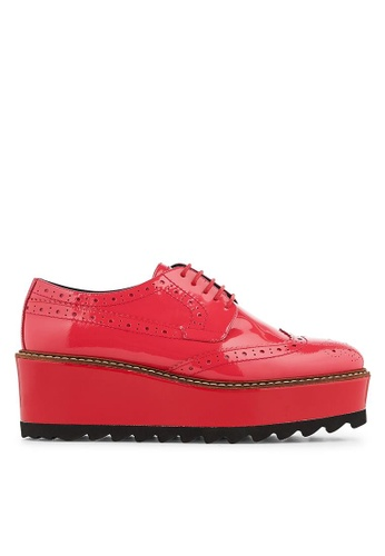 Minelli red F61 113/VER Patent Leather Platform Derby Shoes - Lysianne MI352SH0FJTOSG_1