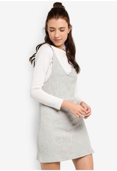 Love 羅紋無袖連身裙