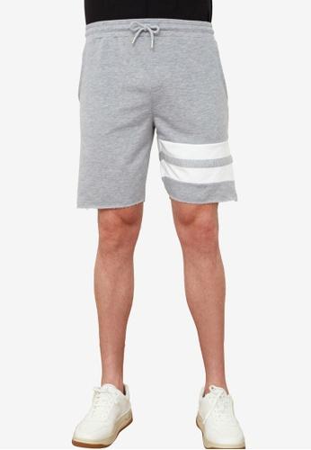 Trendyol grey Striped Jogger Shorts 29A96AAFF0D96EGS_1