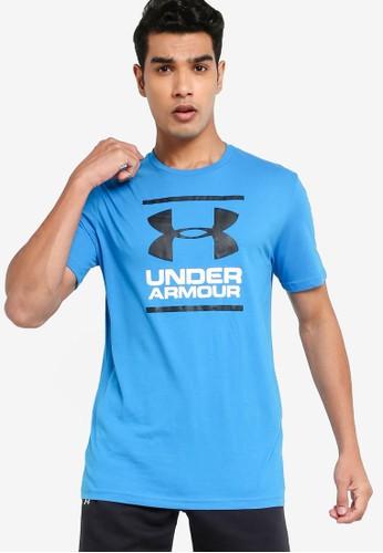 Under Armour blue UA Gl Foundation Short Sleeve Tee AB923AA364A58BGS_1