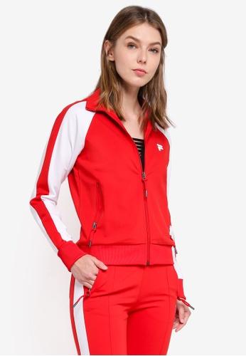 FILA red Orginale Knit Zip Jacket 8282FAA9DE4037GS_1