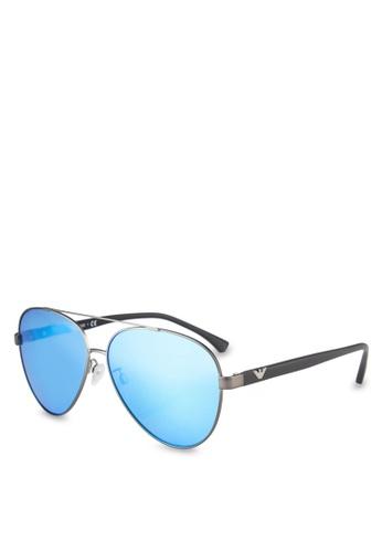 Emporio Armani grey Essential Leasure EA2046D Sunglasses EM212GL0RNIJMY_1
