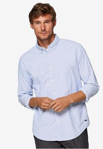 ESPRIT 白色 長袖襯衫 E2315AA79558DAGS_1
