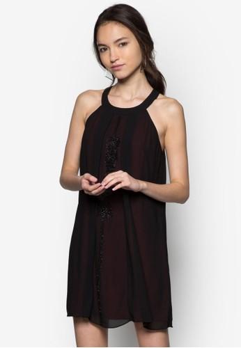 亮片造型繞脖zalora 折扣碼連身裙, 服飾, 派對洋裝