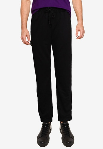 UniqTee black Comfort Jogger With Side Tape Slogan DF656AA191A7AEGS_1