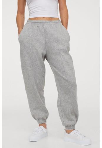 H&M grey Oversized joggers 337A6AA5DA4B09GS_1