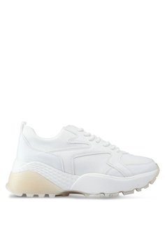 0d7cea86893 River Island white Gum Heel Cap Sole Lace Up Sneakers 77BFESHEE970A1GS 1