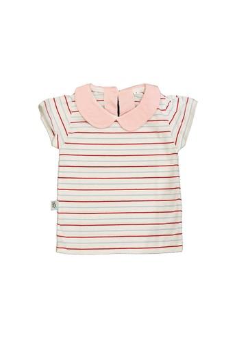 Mon Cheri multi Mon Cheri Kaos Anak Perempuan Candy Stripes Pink FC112KA13ACE30GS_1