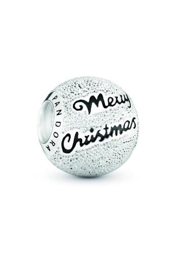 PANDORA silver Pandora Merry Christmas Charm 772EAAC58D4C44GS_1