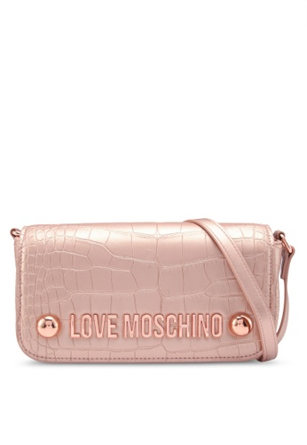 Moschino On Singapore Online Borsa Love Bag Buy Metallic Sling Zalora 50xq1f76w