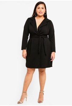 a3417536395 25% OFF MISSGUIDED Plus Size Tie Waist Collar Shift Dress RM 155.00 NOW RM  115.90 Sizes 16 18 20 22 24