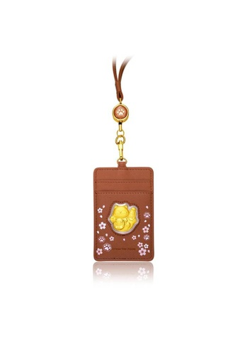 CHOW TAI FOOK Jewellery gold CHOW TAI FOOK 999.9 Pure Gold Coin - Fortune Cat and Daruma Gold Coin (with Brown Lanyard) R24282 87DDEACCB063FAGS_1