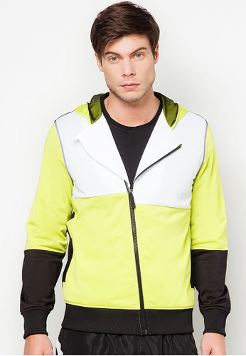 AMNIG green Active Uni Color Block Jacket AM133AA83FHKMY_1