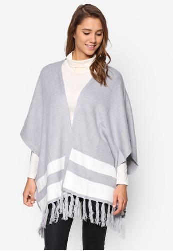 條紋流蘇開襟外套、 服飾、 服飾DorothyPerkins條紋流蘇開襟外套最新折價