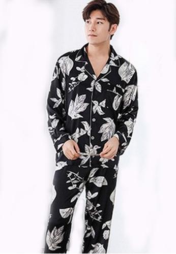 afe450c025f0 LYCKA black LYCKA-LMS09111 Korean Style Spring-Summer MEN Floral Printed  Pajamas Set-