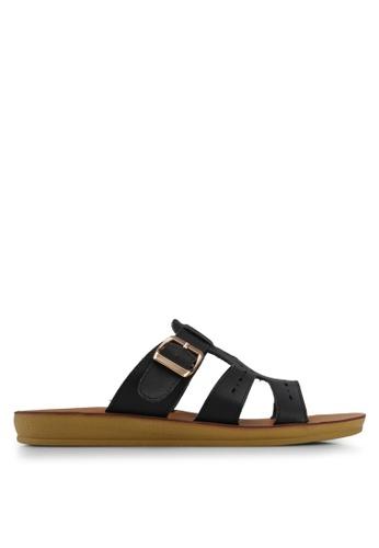 Noveni black Tristrap Sandals 18A35SH4EB3756GS_1