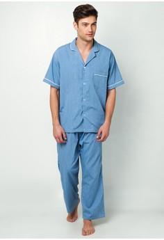 Hayate Classic Pajama Set (Blue)