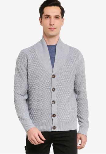 ZALORA BASICS 灰色 Basic Knitted Cardigan E99A6AAB7CFBBAGS_1