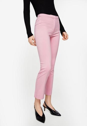 Mango pink Zipped Straight Trousers B0146AAA775371GS_1