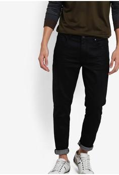 【ZALORA】 簡約錐形窄管牛仔褲