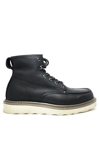 Twenty Eight Shoes 黑色 男裝真皮高桶皮靴 MC3500 4FEAASH35B5804GS_1