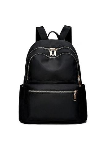 Twenty Eight Shoes black VANSA Nylon Oxford Backpacks VBW-Bp617620M 85F32AC96ECB3DGS_1