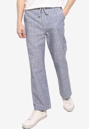 ZALORA BASICS multi Linen Blend Drawstring Pants 06F87AAE3DFC3FGS_1
