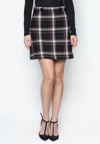 格紋迷你短裙, 服飾, zalora 順豐迷你裙