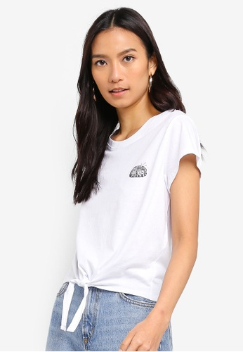Cotton On white Tbar Tie Front Tee B25D0AA1661DADGS_1
