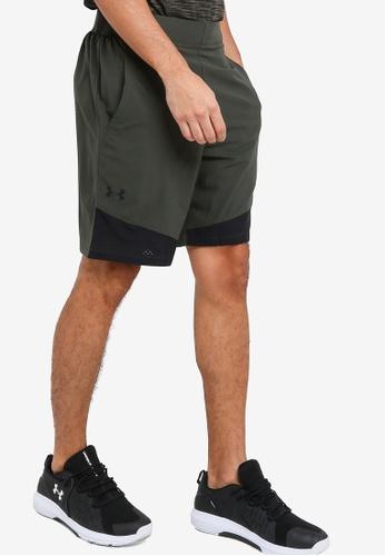 Under Armour green UA Vanish Woven Shorts 105EFAA2919F32GS_1