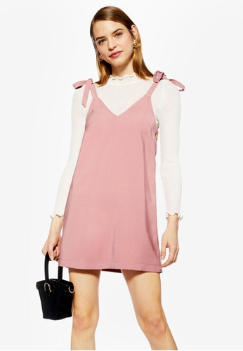 1723ae5d256c Buy TOPSHOP Button Mini Slip Dress Online on ZALORA Singapore