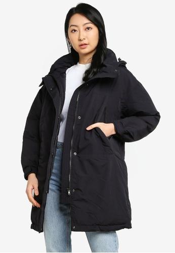 LOWRYS FARM black Hooded Jacket A13C4AAB8D8CF3GS_1