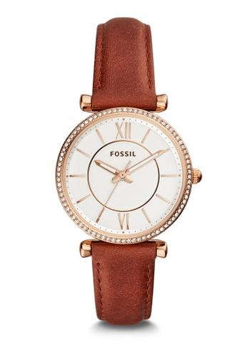 Fossil 棕色 Carlie Analog Watch ES4428 9F0E6AC70013DBGS_1