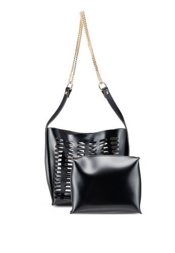 Berrybenka black Meira Octa Shoulder Bag 1AE5CAC8D62B73GS_1