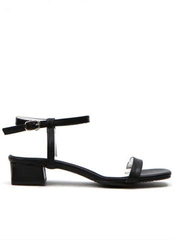 Crystal Korea Fashion black Korean Summer Versatile Comfortable Flat Sandals 78A8DSH461CF31GS_1