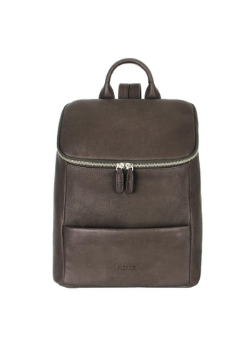 Picard brown Picard Buffalo Ladies Leather Backpack With Zip Top PI517AC0HAXSSG_1